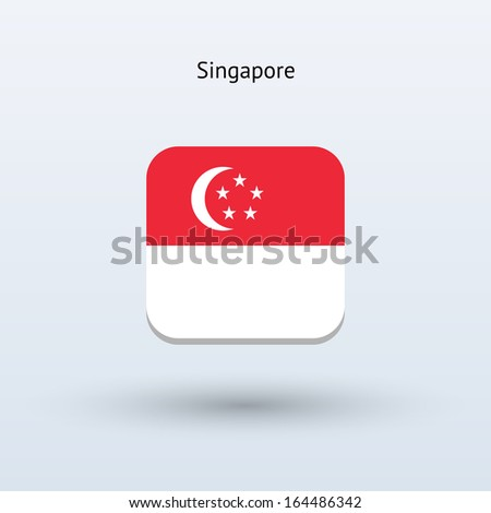 Singapore flag icon. See also vector version. - stock photo