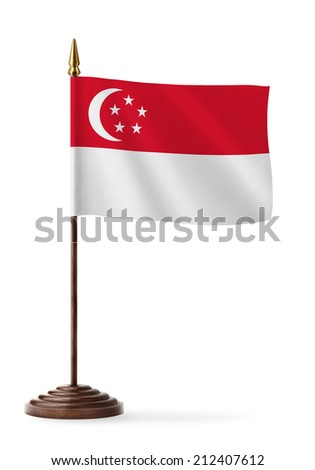 Singapore flag - table flag