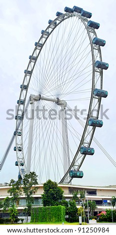 Singapore Flyer -  largest flyer in the world - stock photo