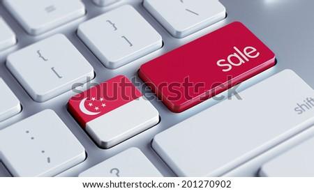 Singapore High Resolution Sale Concept - stock photo