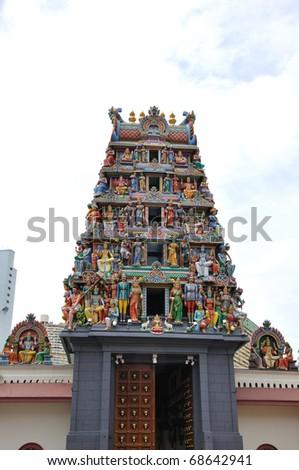 Singapore Hindu Temple - stock photo