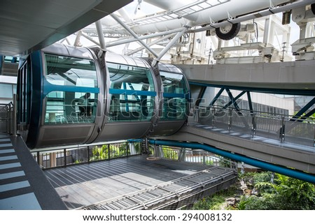 Singapore - January 6, 2015: View of the Singapore Flyer, the largest ferris wheel in the world.
