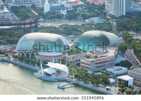 SINGAPORE - JUN 26, 2015: Esplanade - Theatres on the Bay is a performing arts center located in Marina Bay.
