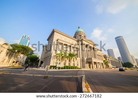 SINGAPORE - March, 16 2015: National Museum of Singapore is located in a historic building. Founded in 1848 - stock photo