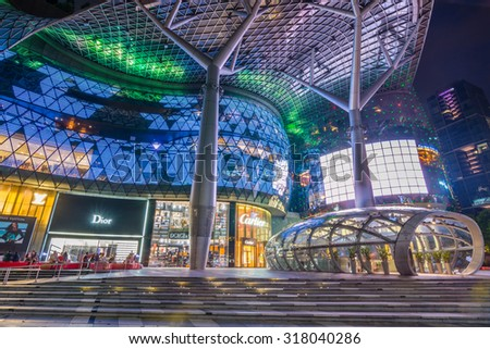 SINGAPORE - 22 May 2015 :ION Orchard, formerly known as the Orchard Turn Development or Orchard Turn Site, is the retail component of an integrated retail and residential . - stock photo