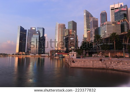 SINGAPORE - May 10: Marina Bay Sands hotel on May 10, 2014 in Singapore.