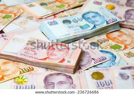 Singapore money - stock photo
