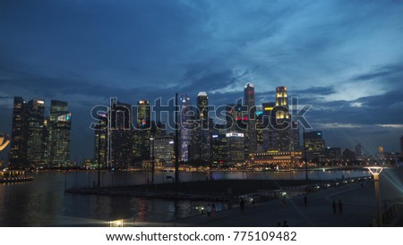 SINGAPORE - NOVEMBER 2016: A Photo of Cityscape and Viewpoint in Singapore, November 2016