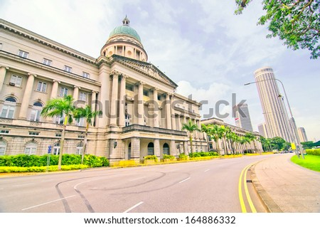 Singapore Old Court - stock photo
