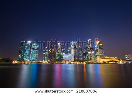 SINGAPORE - SEP 16: The Marina Bay Sep 16, 2014 in Singapore. - stock photo