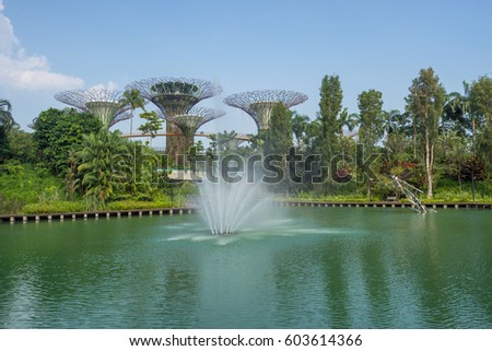 Garden By The Bay Water Park bay central garden stock images, royalty-free images & vectors
