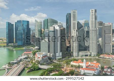 Singapore Skyline. Singapore`s business district. - stock photo