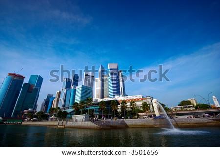 Singapore skyscraper - stock photo