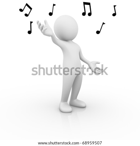 Singer - stock photo