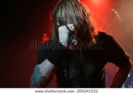 Singer on the stage - stock photo
