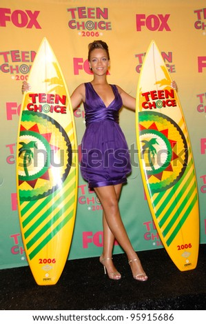 Singer RIHANNA at the 2006 Teen Choice Awards at Universal City, Hollywood 20AUG2006  Los Angeles, CA  2006 Paul Smith / Featureflash - stock photo