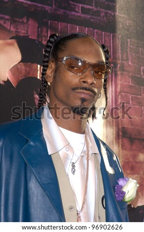 Singer SNOOP DOGG at the world premiere, in Hollywood, of Catwoman. July 19, 2004 - stock photo
