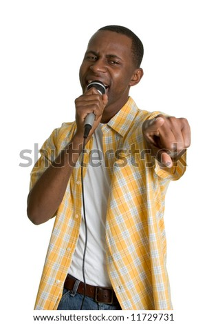 Singing Black Man - stock photo