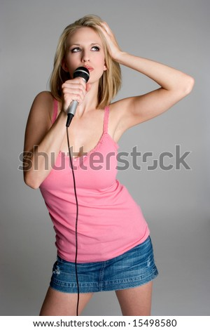 Singing Woman - stock photo