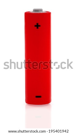 Single aa battery - stock photo