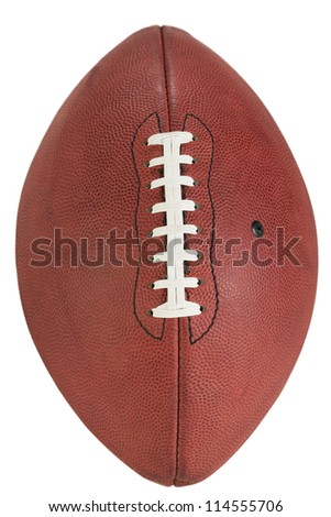Single American Football, this is an update of an older image, shot with higher resolution that what was available before. - stock photo