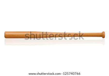 Single baseball bat, isolated on white background - stock photo