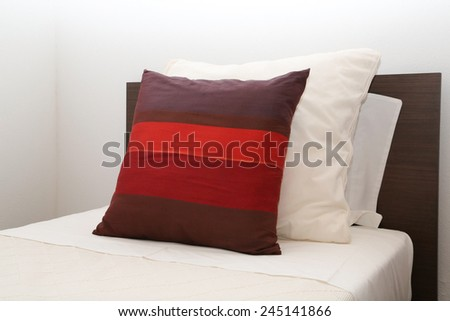 Single bed room in a hotel room - stock photo