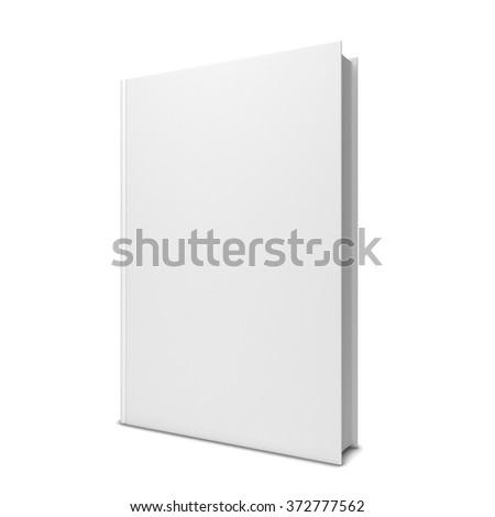 Single blank book. 3d illustration isolated on white background - stock photo