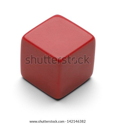 Single Blank Dice with Copy Space Isolated on White Background.