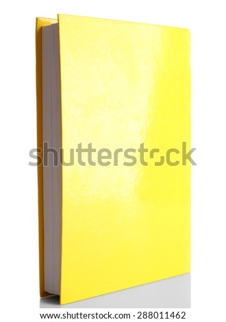 Single book isolated on white - stock photo
