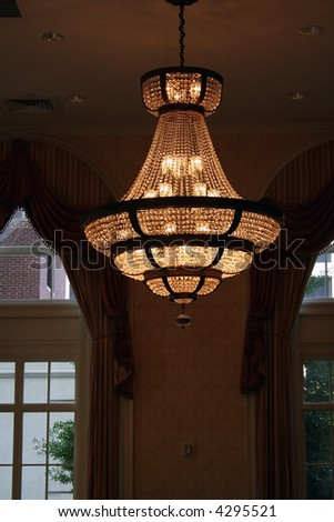 Single Chandelier - stock photo