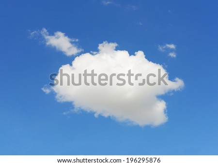 single cloud with blue sky background