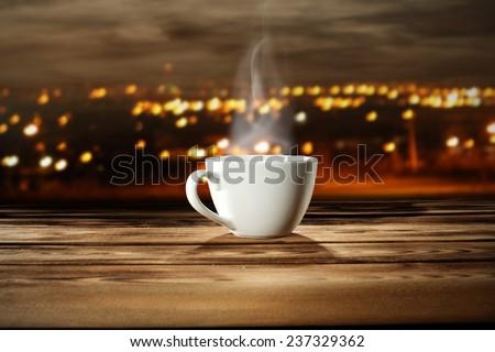 single coffee cup  - stock photo