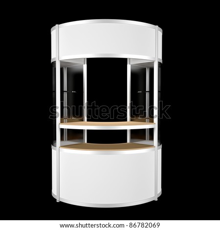 single counter isolated on black - stock photo
