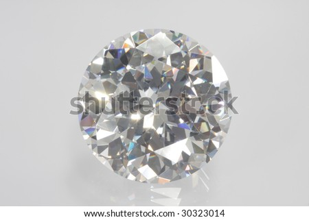 Single-diamond with reflexion#1 - stock photo