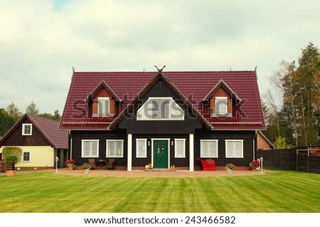 single family house - stock photo