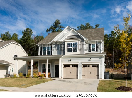 Single family residence. East of the United States - stock photo