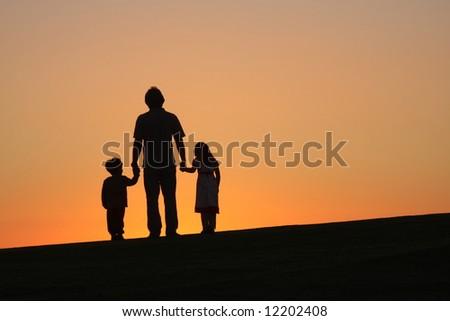 single father - stock photo