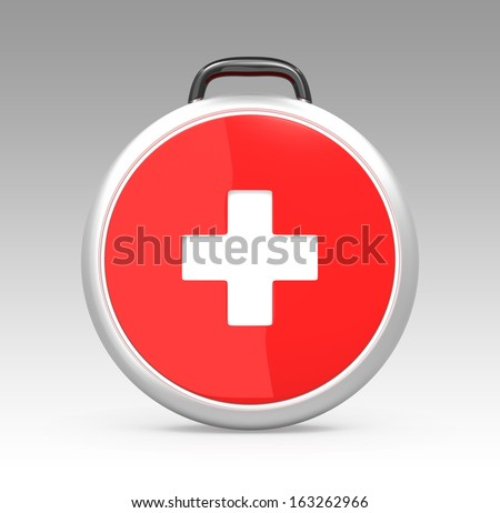 Single first aid kit with clipping path.