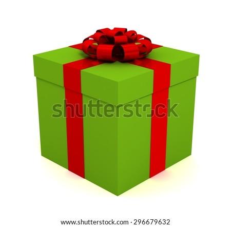 single giftbox - stock photo