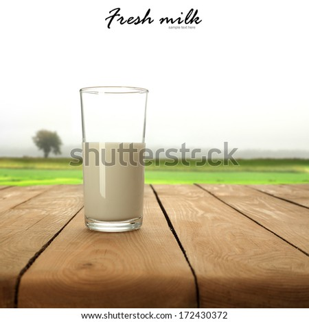 single glass of milk