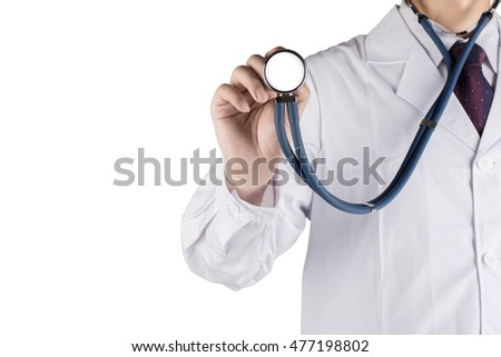 Single hand stethoscope doctors