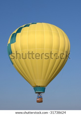 single hot air balloon in flight