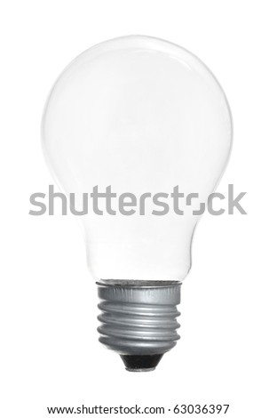 Single light bulb isolated on a white background - stock photo