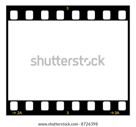 Single 35mm Film Negative Frame, Space For Own Picture Or Text