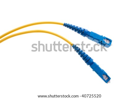 Single mode fiber cables - stock photo