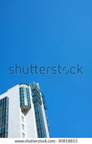 single modern building - stock photo
