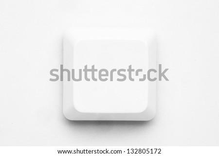 Single neutral white key of keyboard - stock photo