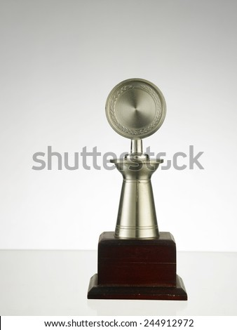 single object trophy on the table - stock photo