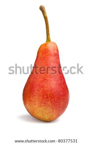single pear - stock photo